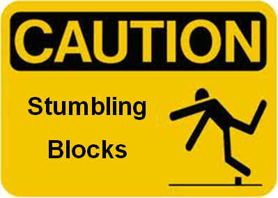 Image result for image of stumbling blocks in writing